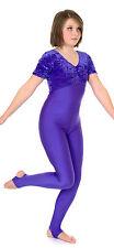 Catsuit Short Sleeve Gathered Bust - Velvet + Coloured Lycra (#ZOE)