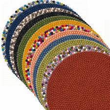 X52 felt ball round Nursery Rug Pom Pom Home decor room office carpet wholesale