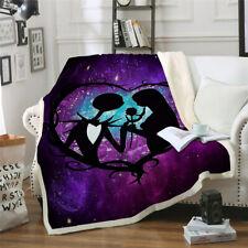 Cartoon 3D Blanket The Nightmare Before Christmas Warm Soft Sofa Bed Throw Heart