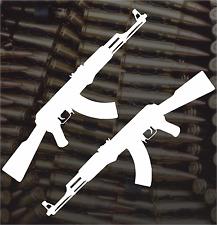 2X AK47 Vinyl Window Decal Bumper Sticker AR-15 Rifle Molon Labe Macbook Car SUV