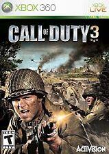 Call of Duty 3 (Microsoft Xbox 360, 2006) ***NEAR PERFECT***