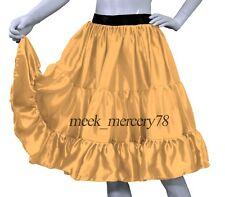 H Gold  Satin 3 Tiered Short skirt Belly Dance Skirt casual skirt Sexy Dress S62
