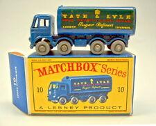 """MATCHBOX rw 10c sugar conteneur GRISE roues top dans """"D"""" BOX"""