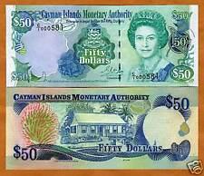 Cayman Islands, $50, 2001, P-29, QEII, UNC