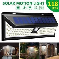 118LED Solar Lamp Outdoor Garden Yard Waterproof PIR Motion Sensor Light 1/2PACK