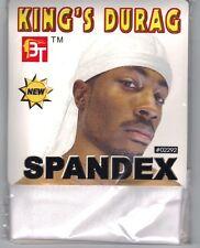BRAND NEW STRETCHY SPANDEX DU RAG, White