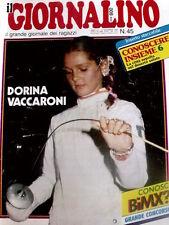 Giornalino 45 1983 Gianburrasca di G. De Luca -I Puffi - Pinky + inserto Conosce