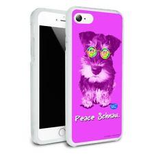 Peace Schnau Schnauzer Puppy Dog Retro Hybrid Rubber Bumper iPhone 7 and 7 Plus