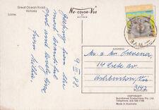 Postcard LORNE Victoria Australia with WYE RIVER postmark 1987 sent to Ashburton