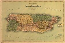Poster, Many Sizes; Map Topografico De La Isla De Puerto Rico 1886