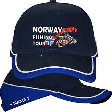 Norwegen Angeln Angler Hut Urlaub Kappe Basecap Mütze Norway Angelreisen Tour 21