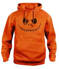 Mens womens Pumpkin Jack Face Halloween Hoody Hoodie Hooded Sweat NEW S-XXL