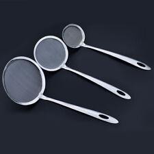 Handle Skimmer Mesh Strainer Oil Filter Scoop Colander Spoon Stainless Steel NEW