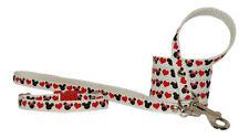 rojo negro y Blanco Minnie & Micky corazones Chihuahua Perro Cachorro COLLAR