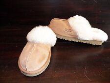 New UGG Kids Girls Boys Cozy Chestnut Suede Sheepskin Slip On Indoor Slippers