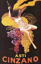 Asti Cinzano Girl Dancing Grapes Vintage-Style Wine Ad Leonetto Cappiello Poster