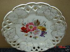 Vintage Plate Reticulated Handprinted Porcelain Old