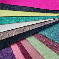 Tessuto Fine Glitter a4 o a5 fogli in Tinta Unita Colori per Capelli Fiocchi & Crafts