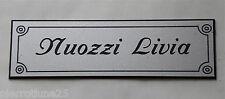 plaque gravée personnalisée boite aux lettre ou porte 1 ligne
