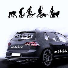 Autocollants Pour Voiture Film De Sticker Evolution Chien Saint-bernard