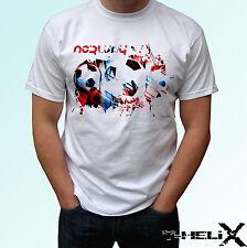 Bandera de fútbol Noruega-Blanco T Shirt Top Diseño-Para Hombre Mujer Niños Bebé Tamaños