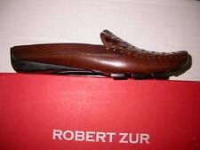 RZ Robert Zur Designs WBB Woven Brown Slide Loafer Shoe Extra Narrow