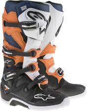 ALPINESTARS Motocross 2017 TECH 7 Enduro Boots (Black/Orng/Blue/Wht) Choose Size
