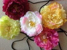 Elegante Fascia Per Capelli Fiore di seta grande Peonia Fiore Fascia Per Capelli