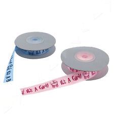 10 Yards Satin Organza Ribbon Baby Boy/Girl Shower Gift Favour Decor