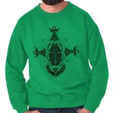 Ancient Egyptian Scarab Shirt | Symbol Spirit Animal New Age Crewneck Sweatshirt