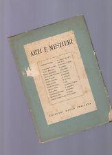 arti e mestieri -  edizioni rai italia - vari autori - 1952