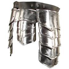 MEDIEVAL GOTHIC Warrior Shiny Steel TASSET BELT Upper Leg PROTECTOR ARMOR LARP