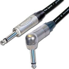 Low Noise PRO Electric Guitar Lead. 1/4 inch Mono Neutrik Jacks 2m, 3m, 5m Cable