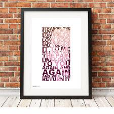 DEPECHE MODE ❤ Strangelove ❤ song lyric poster ART Limited Edition Print #23
