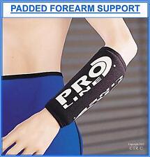 Proline Padded Forearm Support & Protection Black Neoprene Medical Sport Brace
