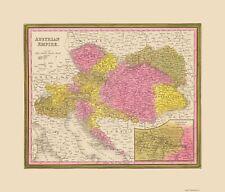 Old Austria Map - Austrian Empire - Mitchell 1846 - 23 x 26.99