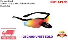 RayZor Uv400 pink Sport Wrap Sonnenbrillen fumé verspiegeltes Glas 424