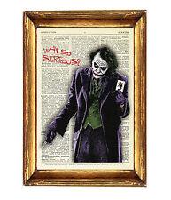 Il Joker Batman stampa poster foto dizionario Wall Art CAVALIERE OSCURO