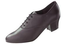Carácter Oxford Cuero Negro Tacón Cubano/Zapatos De Tap Dance-Varios Tamaños