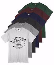 Para Hombre 6 Colores Yokohama Denim Estampado Gráfico camiseta Verano 100% Algodón Camiseta Top