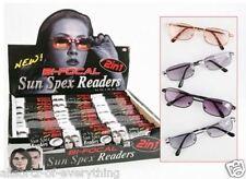 2 in 1 Bi-Focal Unisex Reading Sunglasses + 1.50 2.00 2.25 2.50 2.75 3.00