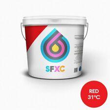 La tinta de impresión pantalla termocromica Rojo 31 ° C
