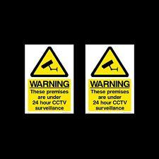 CCTV Firmare, Adesivo Pacco da 2 - 100mm x 150mm (A6) - sicurezza, fotocamera - (MISC12)