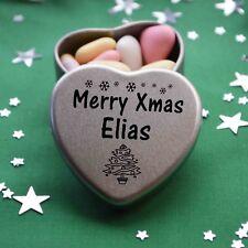 Merry Xmas Elias Mini Heart Tin Gift Present Happy Christmas Stocking Filler