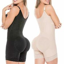 Body Suit For Women Shaper JumpSuit Butt Lifter Zipper + Lace Thigh Shapewear