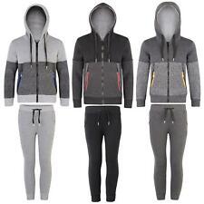 Enfants unisexe teen plain polaire à capuche sweat veste zippée haut 5 à 14 ans