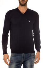 Maglia Maglietta Armani Jeans AJ Sweater Pullover % Uomo Blu 6X6MA46M0IZ-552