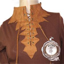 Larp Psy Goa Elfen Bluse Shirt Sweatshirt Figurbetont Braun Cognac NEU Gr.32 34
