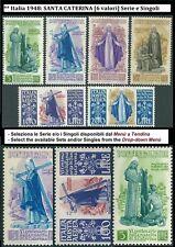 ** Italia 1948 Repubblica: SANTA CATERINA [ 6 valori ] Serie e Singoli