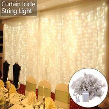 25 Foot Outdoor Globe Patio Garden String Lights, 1800LED Curtain String Light
